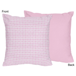 Pink and Chocolate Teddy Bear Decorative Accent Throw Pillow