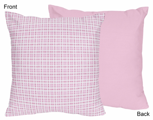 Pink and Chocolate Teddy Bear Decorative Accent Throw Pillow - Click to enlarge