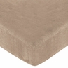 Pink and Chocolate Teddy Bear Fitted Crib Sheet for Baby and Toddler Bedding Sets by Sweet Jojo Designs - Camel Microsuede