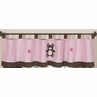 Pink and Chocolate Teddy Bear Girls Window Valance by Sweet Jojo Designs