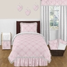 Pink and Gray Alexa Butterfly 4pc Twin Girls Bedding Set by Sweet Jojo Designs