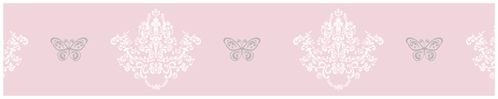 Pink and Gray Alexa Butterfly Childrens and Kids Modern Wall Paper Border - Click to enlarge