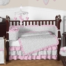 Pink and Gray Kenya Baby Bedding - 9pc Crib Set by Sweet Jojo Designs
