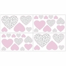 Pink and Gray Kenya Baby, Childrens and Kids Wall Decal Stickers by Sweet Jojo Designs - Set of 4 Sheets