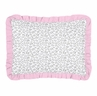 Pink and Gray Kenya Pillow Sham by Sweet Jojo Designs