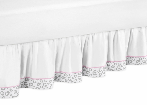 pink and gray kenya queen bed skirt for childrens teen bedding sets by sweet jojo designs only. Black Bedroom Furniture Sets. Home Design Ideas