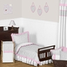 Pink and Gray Kenya Toddler Bedding - 5pc Set by Sweet Jojo Designs