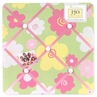Pink and Green Blossom Fabric Memory/Memo Photo Bulletin Board