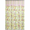 Pink and Green Blossom Kids Bathroom Fabric Bath Shower Curtain