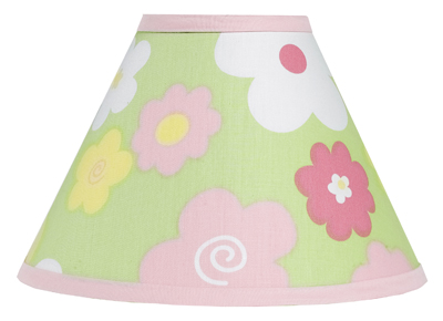 Pink and Green Blossom Lamp Shade by Sweet Jojo Designs - Click to enlarge