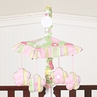 Pink and Green Blossom Musical Baby Crib Mobile by Sweet Jojo Designs