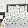 Pink and Green Boho Watercolor Cactus Floral Girl Full / Queen Kid Childrens Bedding Comforter Set by Sweet Jojo Designs - 3 pieces