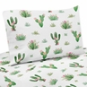 Pink and Green Boho Watercolor Queen Sheet Set for Cactus Floral Collection by Sweet Jojo Designs - 4 piece set
