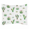 Pink and Green Boho Watercolor Standard Pillow Sham for Cactus Floral Collection by Sweet Jojo Designs