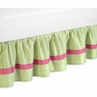 Pink and Green Flower Bed Skirt for Toddler Bedding Sets by Sweet Jojo Designs