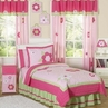 Pink and Green Flower Children's Bedding- 3pc Full / Queen Set