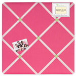 Pink and Green Flower Fabric Memory/Memo Photo Bulletin Board