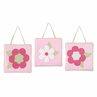 Pink and Green Flower Wall Art Hangings