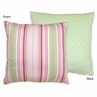 Pink and Green Jungle Friends Decorative Accent Throw Pillow by Sweet Jojo Designs