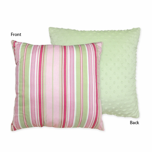 Pink and Green Jungle Friends Decorative Accent Throw Pillow by Sweet Jojo Designs - Click to enlarge