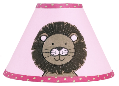 Pink and Green Jungle Friends Lamp Shade by Sweet Jojo Designs - Click to enlarge