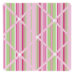 Pink and Green Jungle Friends Stripe Fabric Memory/Memo Photo Bulletin Board