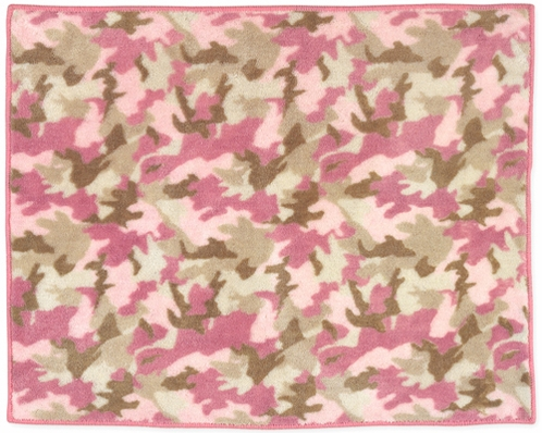 Pink and Khaki Camo Accent Floor Rug - Click to enlarge