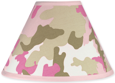 Pink and Khaki Camo Army Military Camouflage Lamp Shade by Sweet Jojo Designs - Click to enlarge