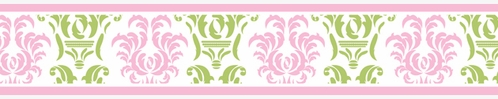 Pink and Lime Juliet Children and Kids Wall Border by Sweet Jojo Designs - Click to enlarge