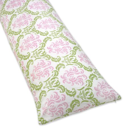 Pink and Lime Juliet Full Length Double Zippered Body Pillow Case Cover - Click to enlarge