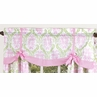 Pink and Lime Juliet Girls Window Valance by Sweet Jojo Designs