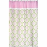 Pink and Lime Juliet Kids Bathroom Fabric Bath Shower Curtain