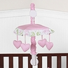 Pink and Lime Juliet Musical Baby Crib Mobile by Sweet Jojo Designs