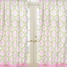 Pink and Lime Juliet Window Treatment Panels - Set of 2