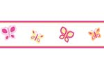 Pink and Orange Butterfly Baby and Childrens Wall Border by Sweet Jojo Designs