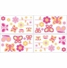Pink and Orange Butterfly Peel and Stick Wall Decal Stickers Art Nursery Decor by Sweet Jojo Designs - Set of 4 Sheets