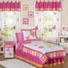 Pink and Orange Butterfly Childrens Bedding - 4pc Twin Set