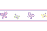 Pink and Purple Butterfly Baby and Childrens Wall Border by Sweet Jojo Designs