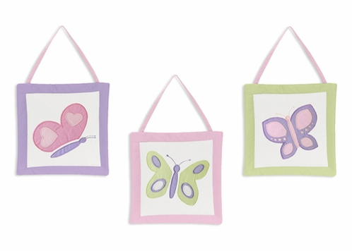 Pink and Purple Butterfly Wall Art Hangings - Click to enlarge