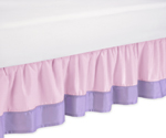 Pink and Purple Butterfly Bed Skirt for Toddler Bedding Sets by Sweet Jojo Designs