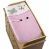 Pink and Purple Butterfly Changing Pad Cover