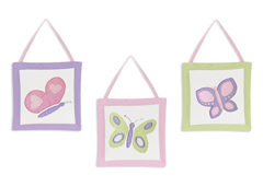 Pink and Purple Butterfly Wall Art Hangings