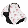 Pink and Taupe Elephant Baby Infant Car Seat Carrier Stroller Cover by Sweet Jojo Designs
