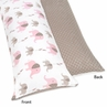 Pink and Taupe Mod Elephant Full Length Double Zippered Body Pillow Case Cover by Sweet Jojo Designs