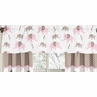 Pink and Taupe Mod Elephant�Window Valance by Sweet Jojo Designs