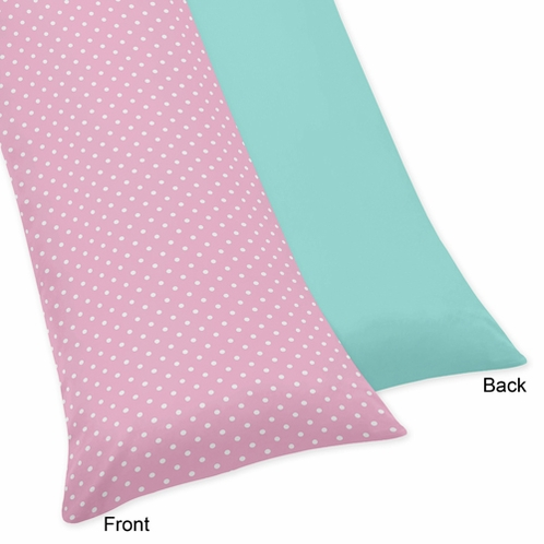 Pink and Turquoise Skylar Full Length Double Zippered Body Pillow Case Cover - Click to enlarge