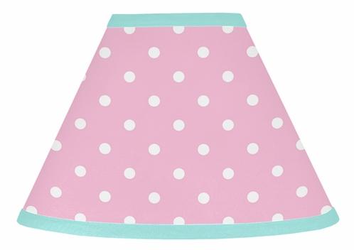 Pink and Turquoise Skylar Lamp Shade by Sweet Jojo Designs - Click to enlarge
