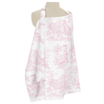 Pink and White French Toile Infant Baby Breastfeeding Nursing Cover Up Apron by Sweet Jojo Designs
