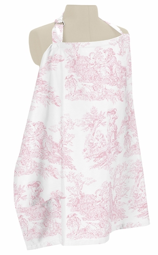 Pink and White French Toile Infant Baby Breastfeeding Nursing Cover Up Apron by Sweet Jojo Designs - Click to enlarge