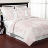 Pink and White Marble 3pc Teen Full / Queen Bedding Set Collection by Sweet Jojo Designs